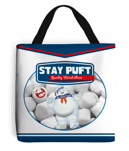 Stay Puft Marshmallow Corporation Tote Shopping Bag From Ghostbusters